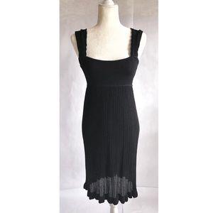 Bebe Crochet Knit Midi Dress   M